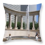 Chicago Tourism Throw Pillow