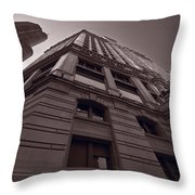 Chicago Towers Bw Throw Pillow
