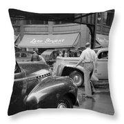 Chicago Traffic, 1941 Throw Pillow