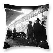 Chicago Train Station Throw Pillow