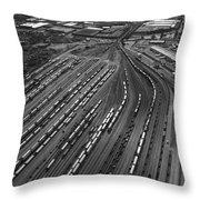 Chicago Transportation 02 Black And White Throw Pillow