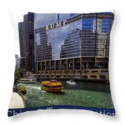 Chicago Transportation Triptych 3 Panel Hdr 01 Throw Pillow