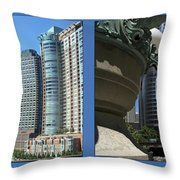 Chicago Trump Tower Under Const 2 Panel Throw Pillow