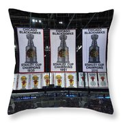 Chicago United Center Banners Throw Pillow