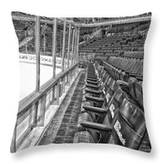 Chicago United Center Before The Gates Open Blackhawk Seat One Bw Hdr Throw Pillow