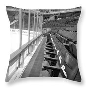 Chicago United Center Before The Gates Open Blackhawk Seat One Bw Throw Pillow