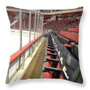 Chicago United Center Before The Gates Open Blackhawk Seat One Throw Pillow