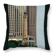 Chicago Water Tower Throw Pillow