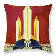 Chicago World Fair A Century Of Progress Expo Poster  1933 Throw Pillow