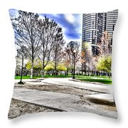 Chicago's Jane Addams Memorial Park From The Series The Imprint Of Man In Nature Throw Pillow