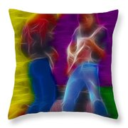 Chicao19-bill-3-fractal Throw Pillow