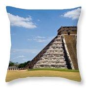 Chichen Itza And Columns Throw Pillow