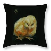 Chick 02 Throw Pillow