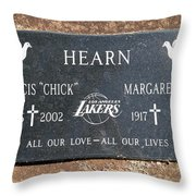 Chick Hearn Grave Throw Pillow
