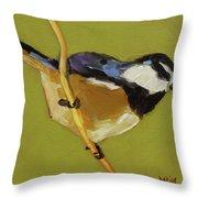 Chickadee V Throw Pillow