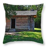 Chickamauga Cabin Throw Pillow