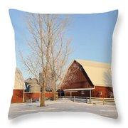 Chickasaw Farm Throw Pillow