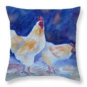Chicken Duo Throw Pillow