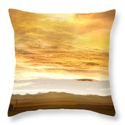 Chicken Farm Sunset 2 Throw Pillow by James BO  Insogna