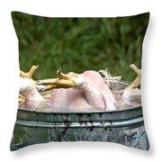 Chicken Feet Throw Pillow