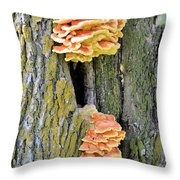 Chicken Of The Woods 2 Throw Pillow