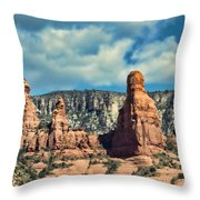 Chicken Point Sedona Arizona Throw Pillow