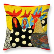 Chicken Posse Throw Pillow
