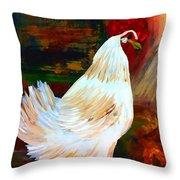 Chicken--yard Bird Impression Throw Pillow
