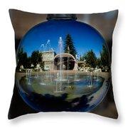 Chico City Plaza Throw Pillow