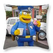 Chief Clancy Wiggum From The Simpsons Throw Pillow