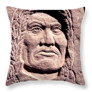 Chief-gall Throw Pillow