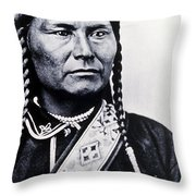 Chief Joseph Nez Perce Leader Throw Pillow
