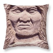 Chief-kicking-bird Throw Pillow