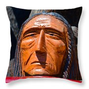 Chief Looking Throw Pillow