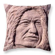 Chief-spotted-tail Throw Pillow