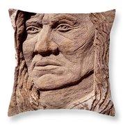 Chief-washakie Throw Pillow