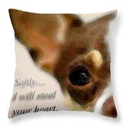 Chihuahua Dog Art - The Thief Throw Pillow