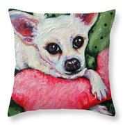 Chihuahua Who Came To Visit Throw Pillow