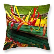 Chihuly Boat Throw Pillow by Diana Powell