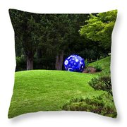 Chihuly Garden Throw Pillow by Diana Powell
