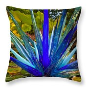 Chihuly Lily Pond Throw Pillow