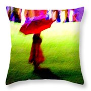 Child In The Rain Throw Pillow
