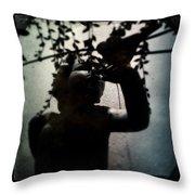 Child And Bird Throw Pillow