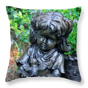 Child And Dove Throw Pillow