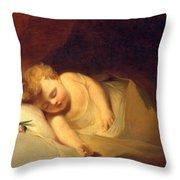 Child Asleep Throw Pillow