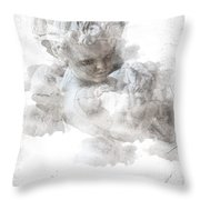 Child Cherub Throw Pillow