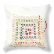 Child Embroidery Throw Pillow by Kerstin Ivarsson