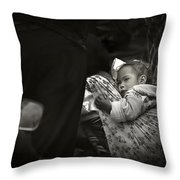 Child  On A Journey Throw Pillow