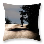 Child On Bicycle, Italy Throw Pillow