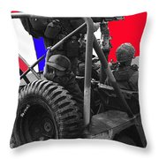 child soldier 100th anniversary parade nogales Arizona 1980-2012 Throw Pillow